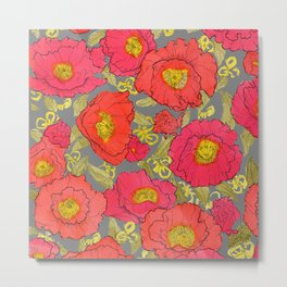 poppies liberty Metal Print