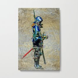Knight On A Field Of Gold Metal Print