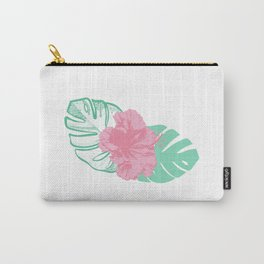 Cute tropical flower print Carry-All Pouch