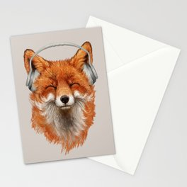 The Musical Fox Stationery Cards