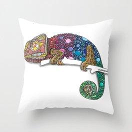 Chameleon Artwork Zendoodle Throw Pillow