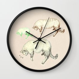 sleeping cats Wall Clock