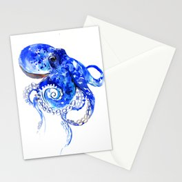 Blue Octopus Stationery Cards