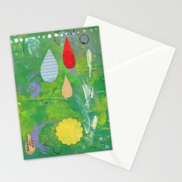 Pale Raindrops Stationery Cards