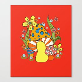 Retro Mushroom Canvas Print