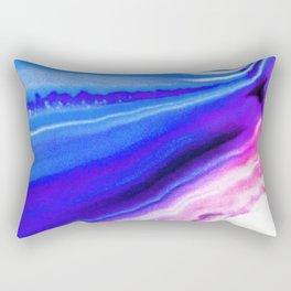 Abstract Agate Blue Rectangular Pillow