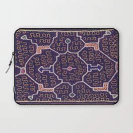 Song to Bring Wealth & Prosperity - Traditional Shipibo Art - Indigenous Ayahuasca Patterns Laptop Sleeve