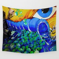 wonderland Wall Tapestries featuring Wonderland by Maria Soledad de la Riva