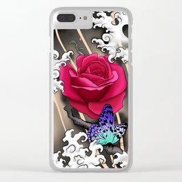 Rose Tattoo Clear iPhone Case
