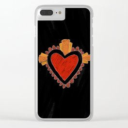 Black love Clear iPhone Case
