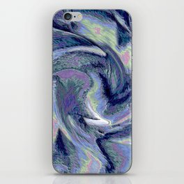 Blue Marble Abstract  Background iPhone Skin
