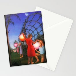 Classical Magic Realism Masterpiece 'Garden Party' by George Tooker Stationery Cards