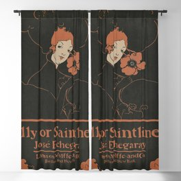 Folly or Saintliness (1895) vintage poster of a Blackout Curtain