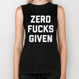 Zero F*cks Given Funny Quote Biker Tank