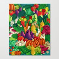 danny ivan Canvas Prints featuring Nice People Eat Vegetables - background (Made with Danny Ivan) by Lidija Paradinović Nagulov - Celandine