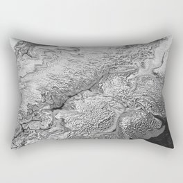 Black & White Angel Wing Rectangular Pillow