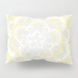 Woven Fantasy - Yellow, Grey & White Mandala Pillow Sham