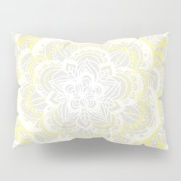 Woven Fantasy - Yellow, Grey & White Mandala Pillow Sham