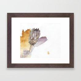 Protea in a Vase Framed Art Print