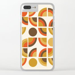 Kosher - retro throwback minimalist 70s abstract 1970s style trend Clear iPhone Case