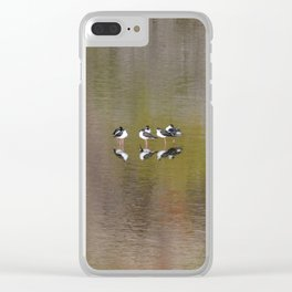 stilts on watercolor Clear iPhone Case