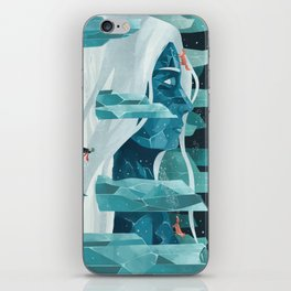 The wanderer and the ice forest iPhone Skin