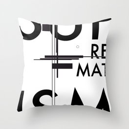 History of Art in Black and White. Suprematism Throw Pillow