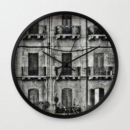 balconies... Wall Clock