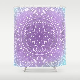 Lavendar and Turquoise Design Shower Curtain