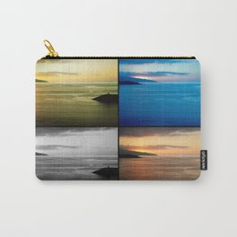 Quadriptych seascape at sunset Carry-All Pouch