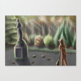 SCP-011 - Sentient Civil War Memo Statue Canvas Print