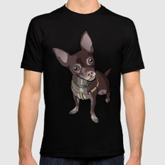 Taco T. Man (Chihuahua) Mens Fitted Tee Black LARGE