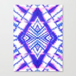 Dye Diamond Iridescent Blue Canvas Print