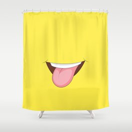 Stick Out Tongue Shower Curtain
