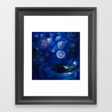 It's Jellyfishing Outside Tonight Framed Art Print