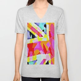 Mark Edz Abstract Union (Jack) CopyCat 2021 Unisex V-Neck