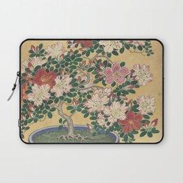 Blooming azalea in blue pot - Ohara Koson (1920 - 1930) Laptop Sleeve