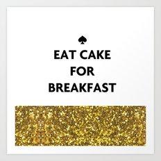 Kate Spade - Cake for Breakfast Art Print