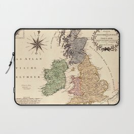 Map Of Great Britain 1795 Laptop Sleeve
