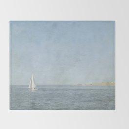 Sunday Sail  - Cape Cod Throw Blanket