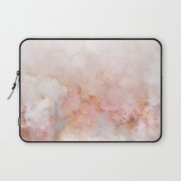 Beautiful Pink and Gold Ombre marble under snow Laptop Sleeve