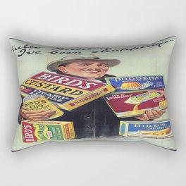 Vintage poster - Bird's Custard Rectangular Pillow