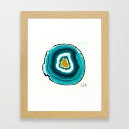 Agate Turquoise  Framed Art Print