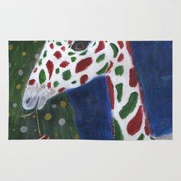 Christmas Giraffe Rug