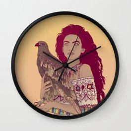 Falcon Lady Wall Clock