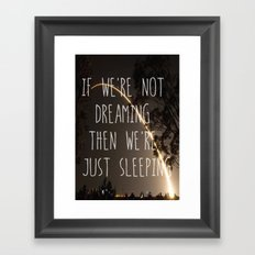 Dreaming or Sleeping Framed Art Print