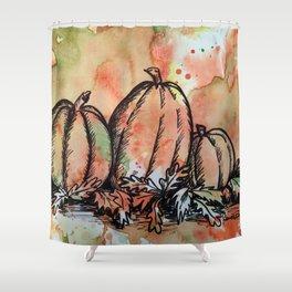 Pumpkin Trio Shower Curtain