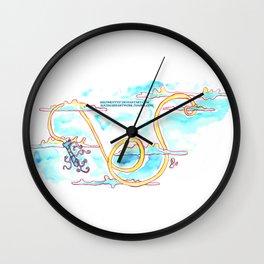 Paper Scrolls (11) Lasso Wall Clock