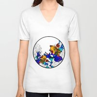 pasta V-neck T-shirts featuring Pasta Illustration by AJJ ▲ Angela Jane Johnston