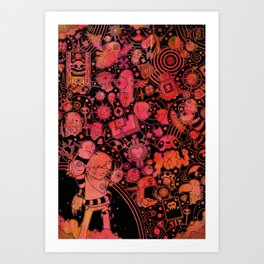 Son of Dooome (red) Art Print
